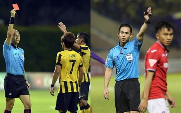 Singapore referees to officiate V.League matches hinh anh 1