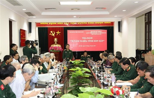 Symposium highlights Vietnam-Laos combatant alliance hinh anh 1
