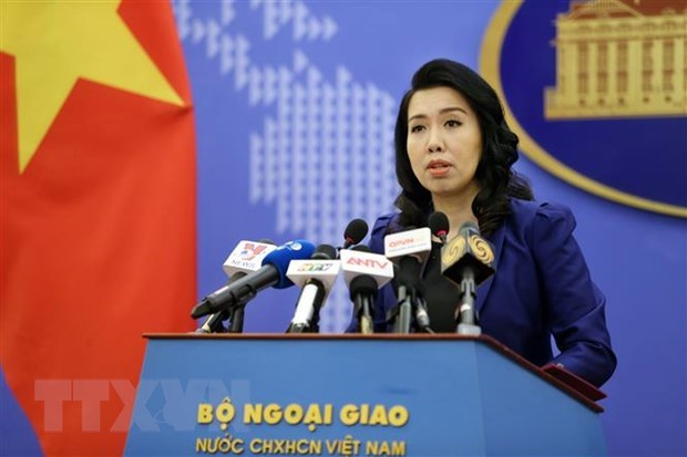 Spokesperson answers query on Chinese ships' exit from Vietnamese waters hinh anh 1