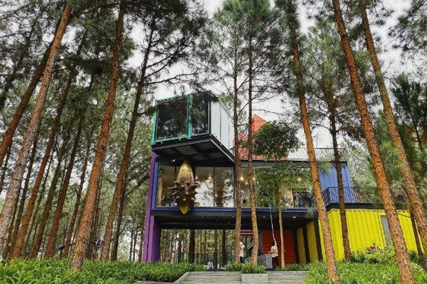 'Arts in the Forest' exhibition opens in Vinh Phuc's resort hinh anh 1