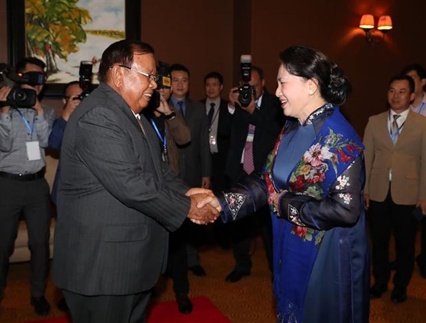 NA Chairwoman meets Lao leader hinh anh 1