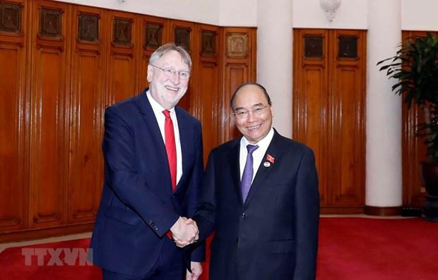 PM receives European Parliament's international trade chief hinh anh 1