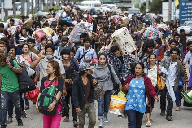 Cambodia, Laos, Myanmar join hands in protecting migrant workers hinh anh 1