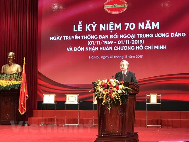 Party's External Relations Commission marks 70th traditional day hinh anh 1