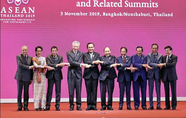 PM Nguyen Xuan Phuc attends opening ceremony of 35th ASEAN Summit hinh anh 1
