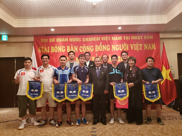 Table tennis tournament looks to bind Vietnamese community in Japan hinh anh 1
