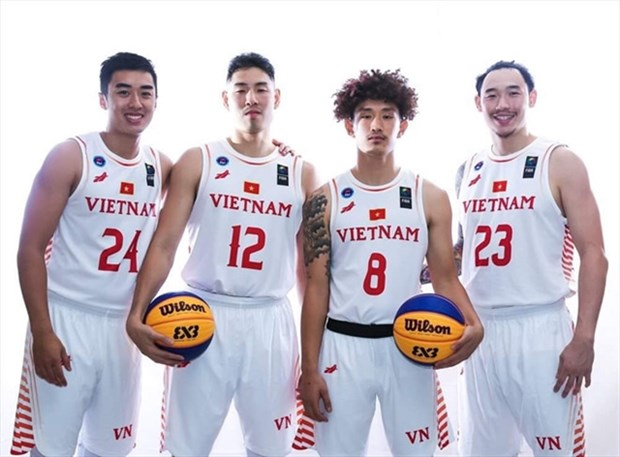 Vietnamese basketball team aims for first medal at SEA Games hinh anh 1