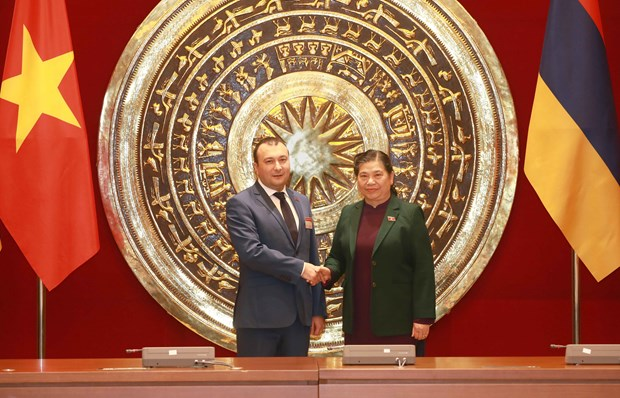 Legislative leaders of Vietnam, Armenia vow to boost cooperation hinh anh 1