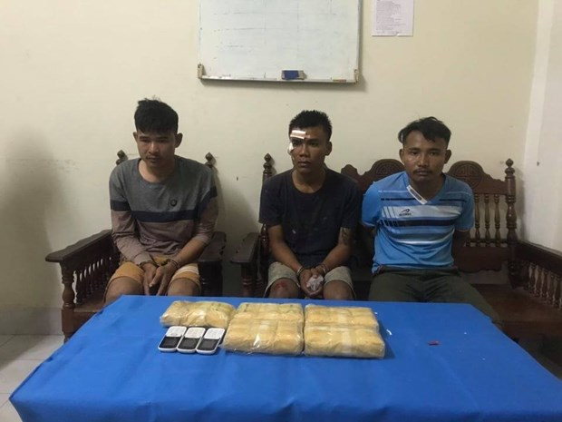 Quang Tri: three caught with 30,000 meth pills hinh anh 1