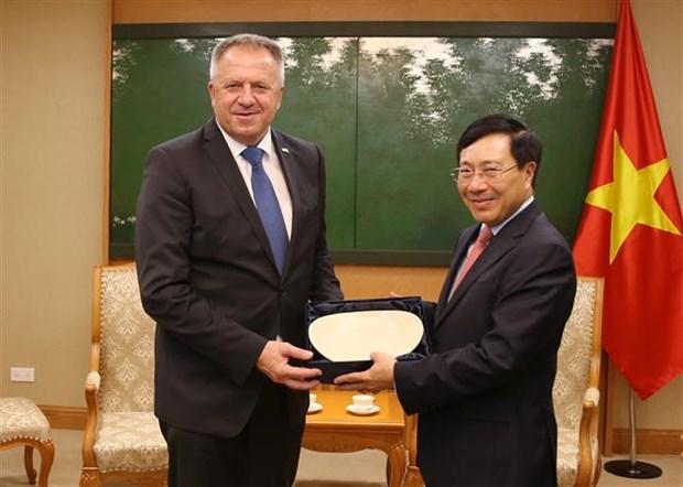 Deputy PM Pham Binh Minh receives Slovenian economic minister hinh anh 1