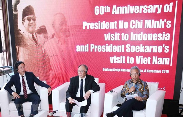 Activities mark 60th anniversary of visits by Vietnamese, Indonesian late leaders hinh anh 1