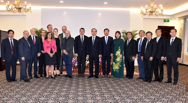 HCM City leader welcomes Hessen Parliament President hinh anh 1
