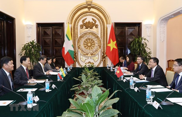Vietnam, Myanmar hold deputy ministerial-level political consultation hinh anh 1
