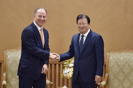 Deputy PM receives CEO of US energy company hinh anh 1
