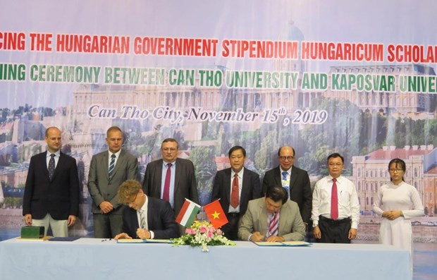 Can Tho University promotes education partnership with Hungary hinh anh 1