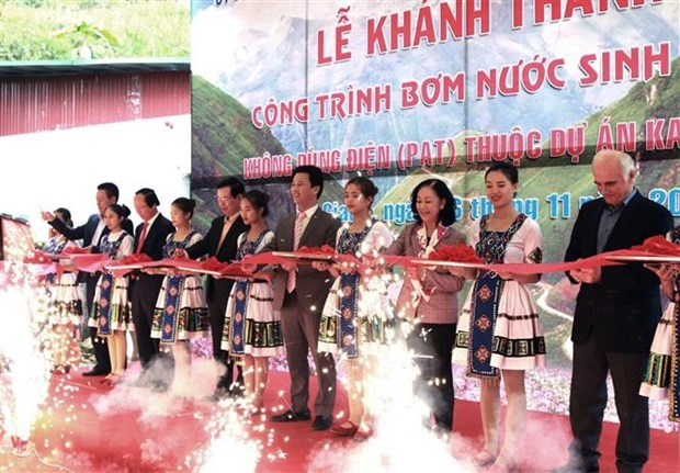 German-funded project brings water to residents in Dong Van Karst Plateau hinh anh 1