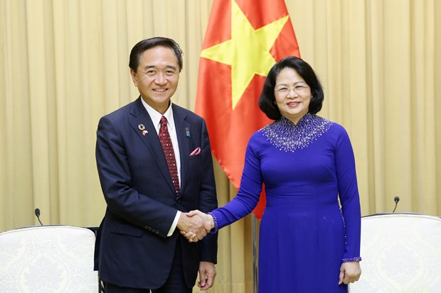 Vice President welcomes Governor of Japan's Kanagawa prefecture hinh anh 1