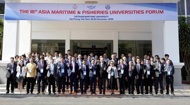 18th Asia Maritime & Fisheries Universities Forum held in Hai Phong hinh anh 1