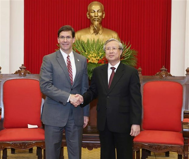 Party leading official welcomes US Defence Secretary hinh anh 1