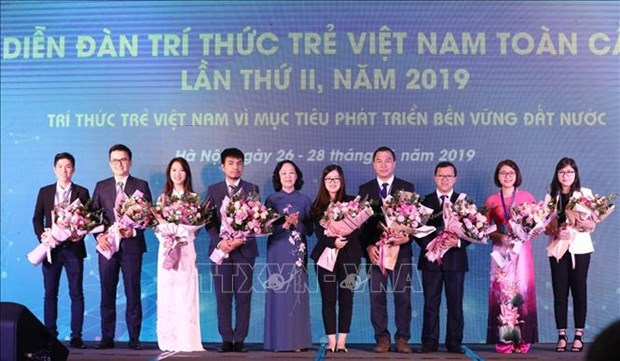 Second Global Young Vietnamese Intellectuals Forum opens in Hanoi hinh anh 1