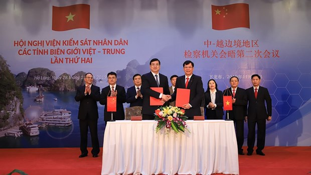 Procuracies of Vietnam-China border provinces hold second meeting hinh anh 1