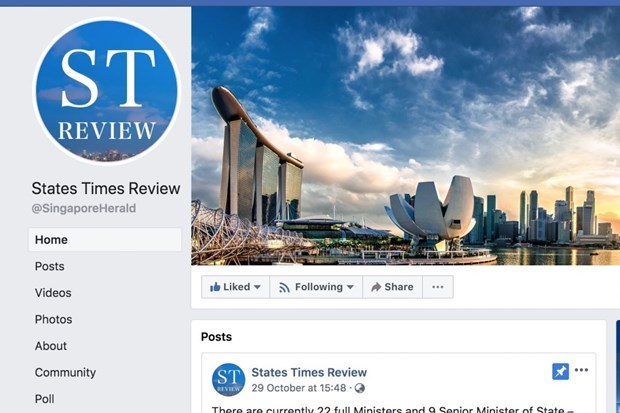 Singapore orders Facebook to correct article hinh anh 1