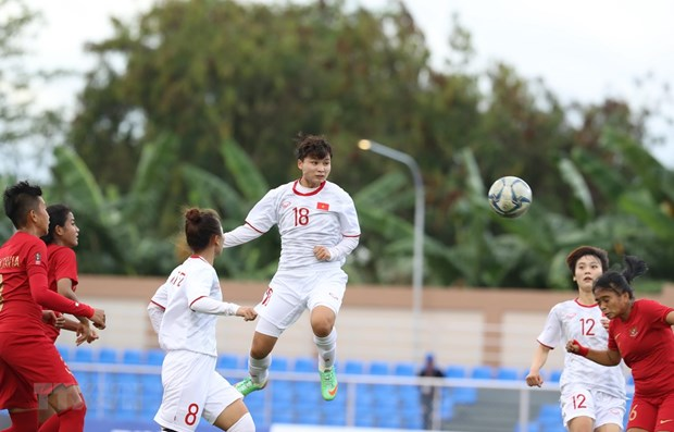 SEA Games 30: Vietnamese female footballers beat Indonesian sisters 6-0 hinh anh 1