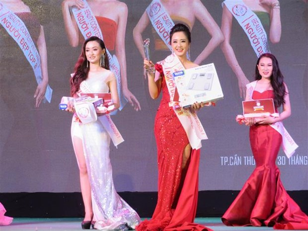 Can Tho University students win Vietnam-Japan Beauty Contest hinh anh 1