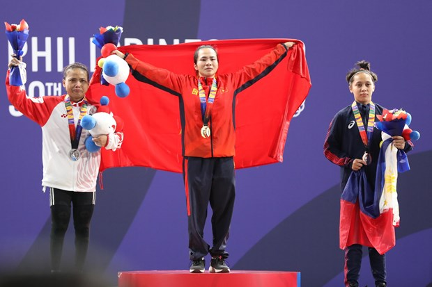 Vietnam obtains 10 gold medals on SEA Games 30's first day hinh anh 1