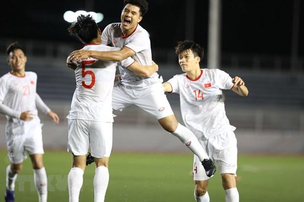 SEA Games 30: Vietnam beat Singapore 1-0, remain atop Group B hinh anh 1