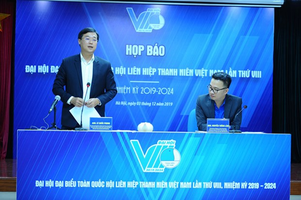 Vietnam Youth Federation's 8th National Congress to open on Oct. 10 hinh anh 1