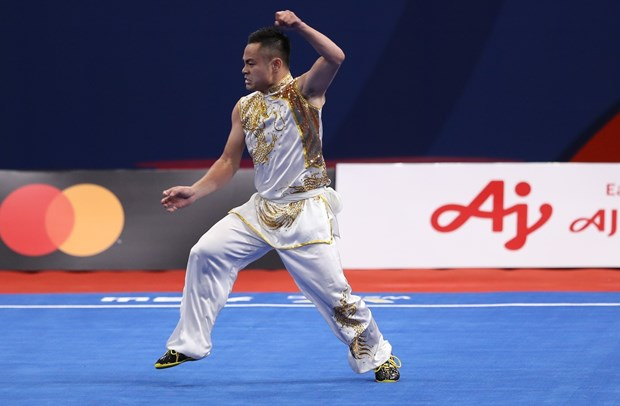 SEA Games 30: Wushu artist brings first gold for Vietnam in 3rd competition day hinh anh 1
