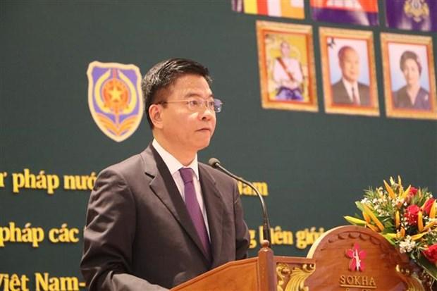 Vietnam, Cambodia border provinces convene judicial conference hinh anh 1