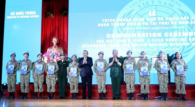 Vietnam peacekeeping force honoured hinh anh 1
