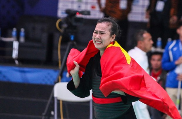 SEA Games 30: Vietnam nab another gold in pencak silat hinh anh 1