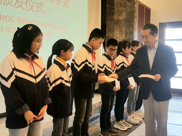 Chinese Embassy grants scholarships to students hinh anh 1