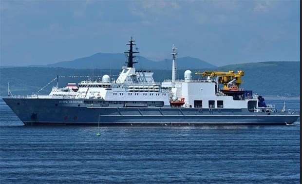 Russian search and rescue support vessel visits Vietnam hinh anh 1