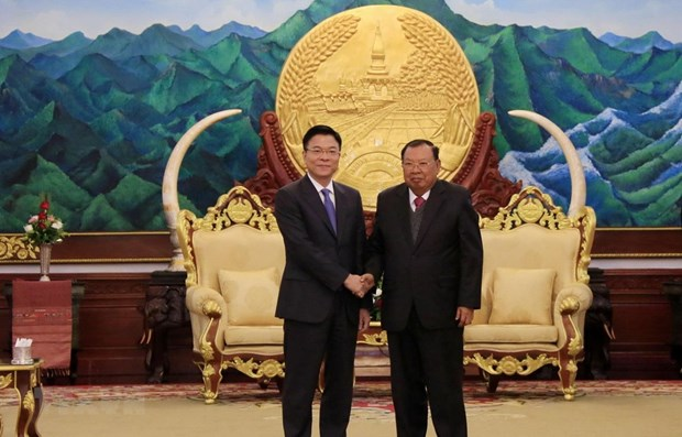 Vietnamese Ministry of Justice delegation on working visit to Laos hinh anh 1