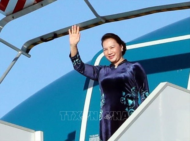 NA Chairwoman leaves Hanoi for Russia, Belarus visits hinh anh 1