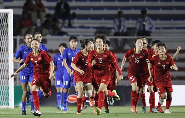 SEA Games 30: Vietnam's female football team wins gold medal hinh anh 1