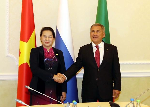 Top legislator meets President of Russia's Tatarstan hinh anh 1