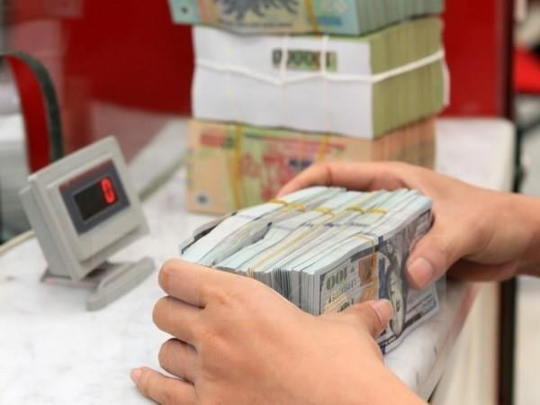Reference exchange rate up 3 VND at week's beginning hinh anh 1