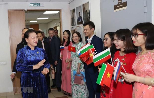 NA leader meets Vietnamese community in Tatarstan hinh anh 1