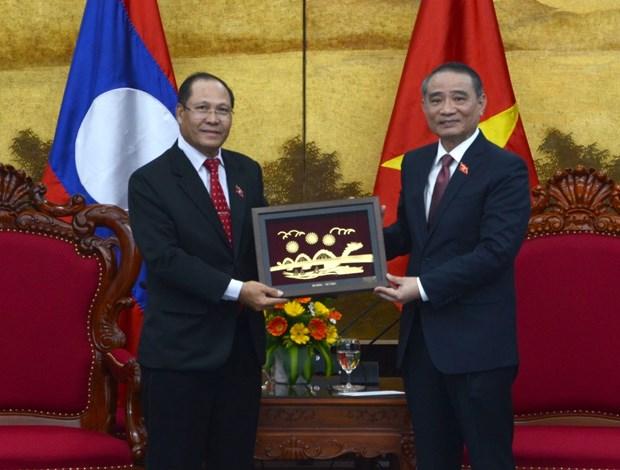 Lao National Assembly delegation visits Da Nang hinh anh 1