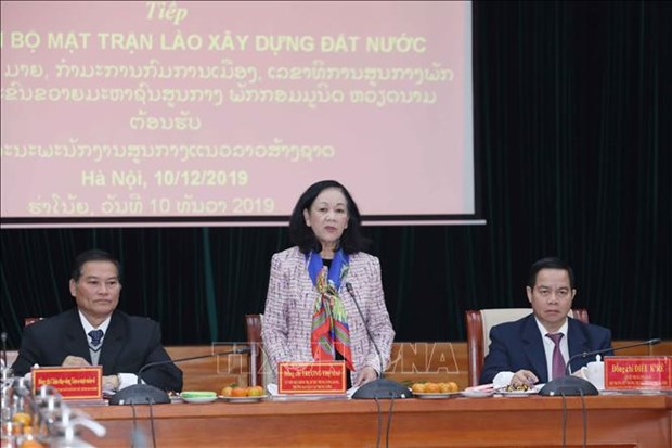 Mass mobilisation official hosts Lao guest hinh anh 1