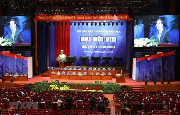 Vietnam Youth Federation's eighth national congress opens hinh anh 1