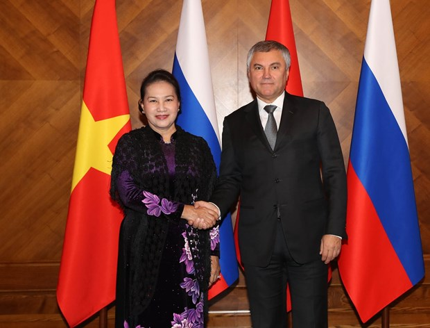 NA Chairwoman holds talks with leader of Russia's State Duma hinh anh 1
