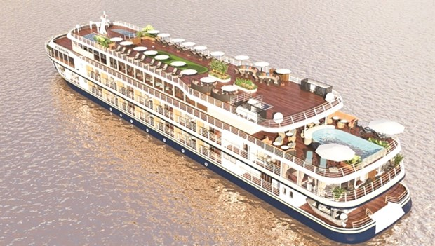 Luxury cruise ship opens Can Tho-Phnom Penh route hinh anh 1