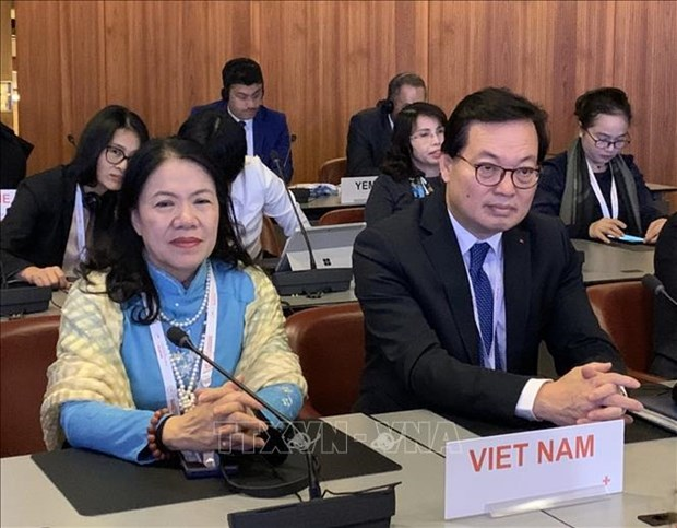 Vietnamese Ambassador delivers speech at int'l Red Cross conference hinh anh 1