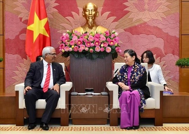 NA Vice Chairwoman receives Cuban Justice Minister hinh anh 1